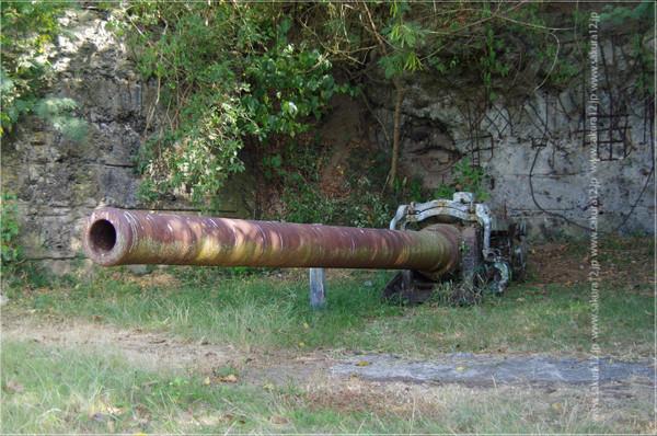 硫黄島 海軍水平砲台