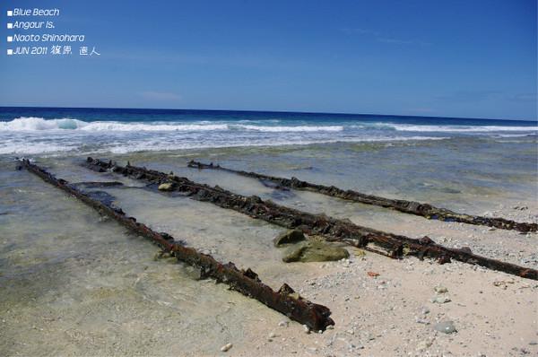 アンガウル島ブルービーチ
