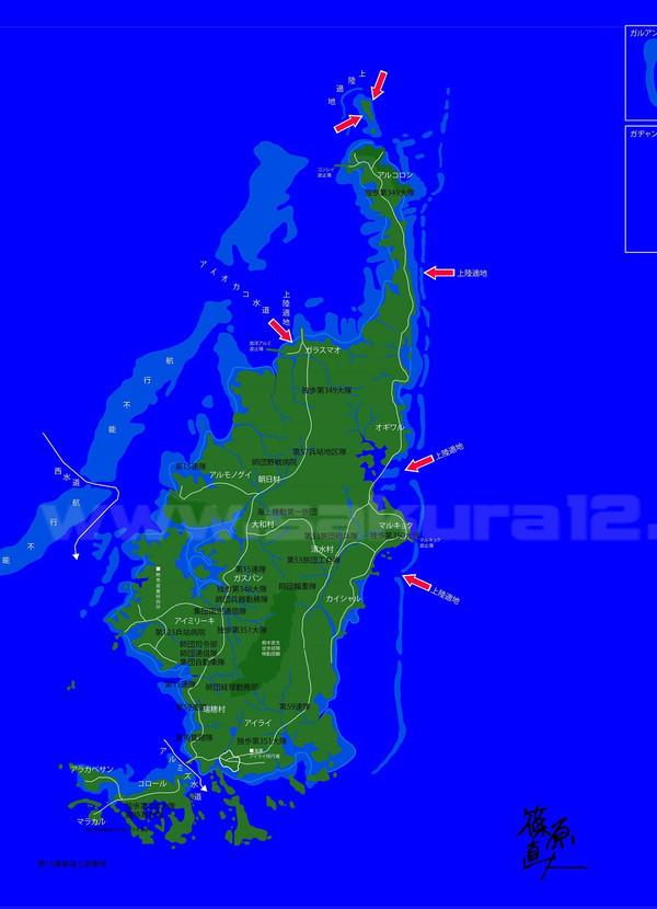 パラオ・バベルダオブ島の地図