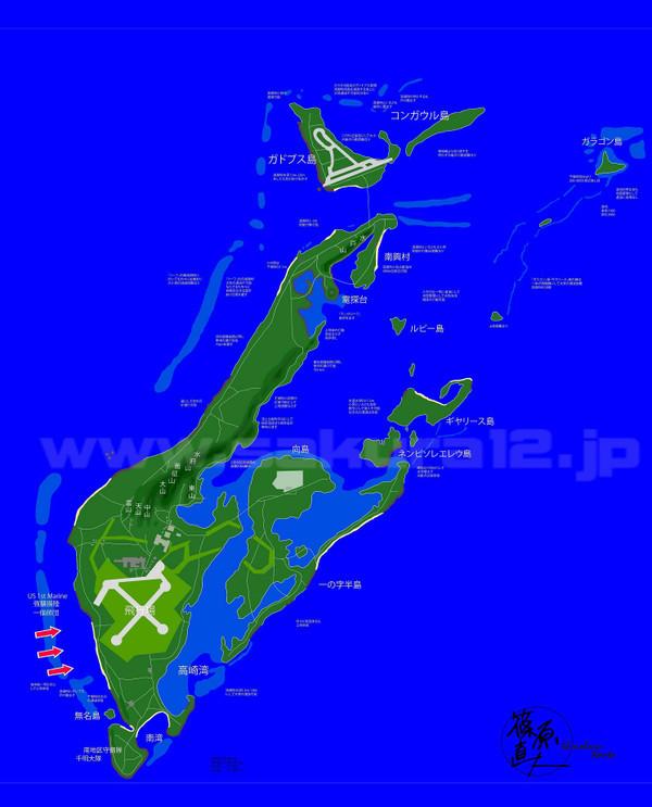 ペリリュー島の地図