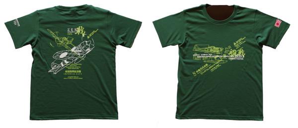 零戦Tシャツ(グリーン)