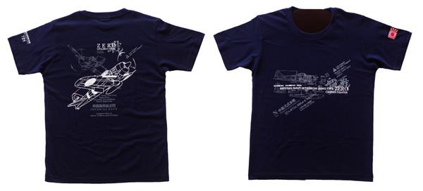 零戦Tシャツ(ネイビー)