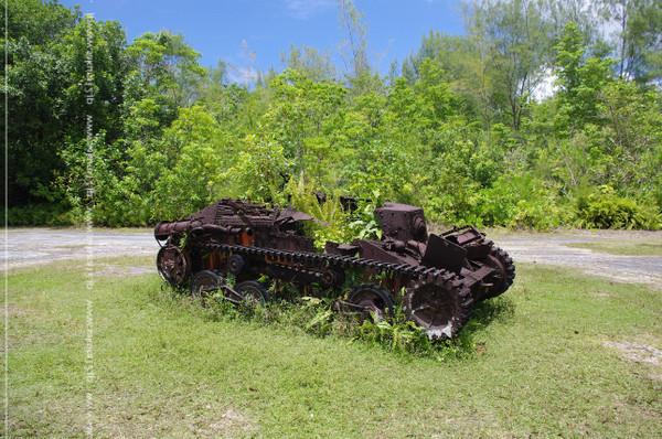 ペリリュー島の戦車
