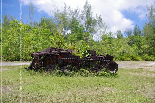 ペリリュー島に残る九五式戦車