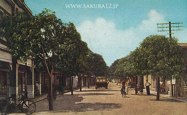 日本統治時代のコロールの街