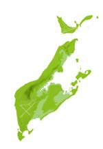 ペリリュー島地図02(フリー素材)