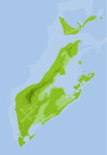 ペリリュー島地図03(フリー素材)