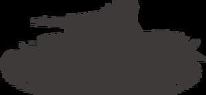 IV号戦車フリー素材画像(シルエット)