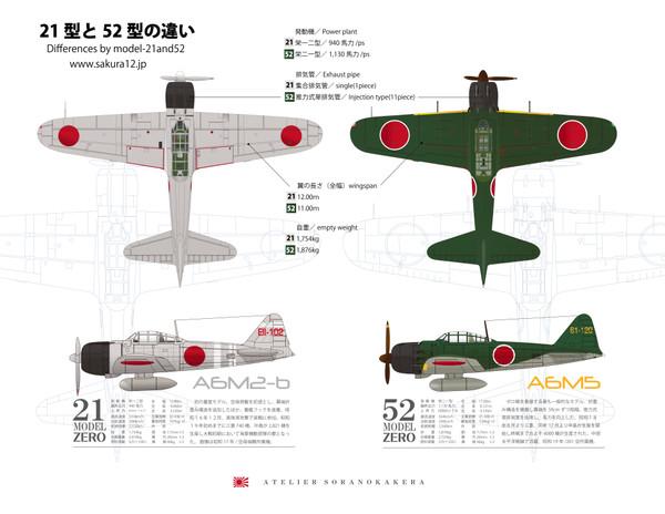 零戦21型と52型の違い