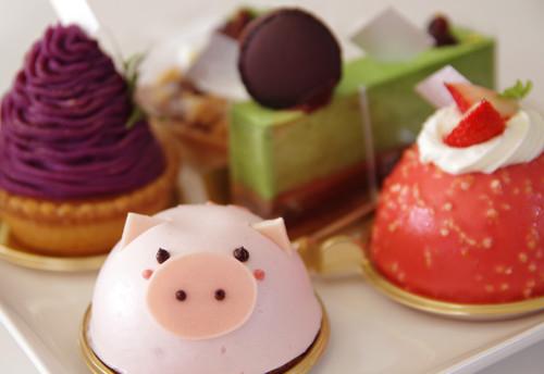 豚さんのケーキ